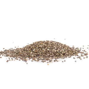 Dark organic chia seeds